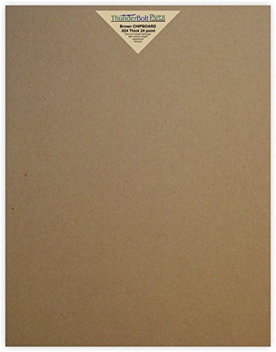 100 Sheets Chipboard 24pt (point) 11 X 14 Inches Light Medium Weight Scrapbook|Picture-Frame Size .024 Caliper Thick Cardboard Craft Packaging Brown Kraft Paper Board by ThunderBolt Paper