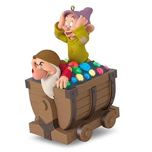 Hallmark Keepsake Christmas Ornament 2018 Year Dated, Disney Snow White and the Seven Dwarfs Off We Go! With Music and Light (Snow White And The Seven Dwarfs Ride)