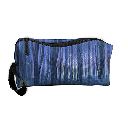 Portable Makeup Cosmetic Storage Bag Appropriate Capacity Organization Pouch With Handle Landscape Forest Tree Night - In Erie Pa Shopping