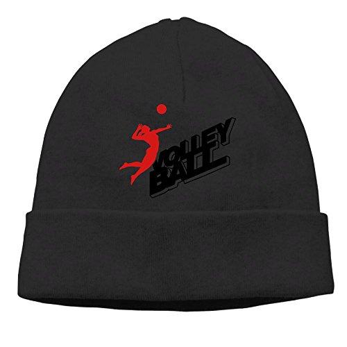 Volleyball Frau Ball Logo F2 Knit Skull Cap Unisex Reversible Beanie Hat For Men And - Beanie Block Knit Reversible