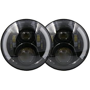 Amazon Com Uxcell 2pcs 7 Quot Round Black 45w Led Projector