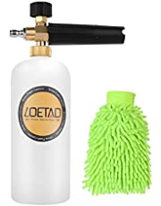 Snow Foam Cannon, LOETAD Adjustable Pressure Snow Foam Lance with 1/4-Inch Quick Connector, 1L Bottle