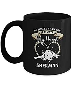 Coffee Mug with Name - Sherman Ceramic Mugs - Personalized Name Gifts for Men Grandpa Dad Brother Uncle Son Or Boyfriend on Xmas Valentine Birthday - Anniversary Gift Tea Cup Black 11oz