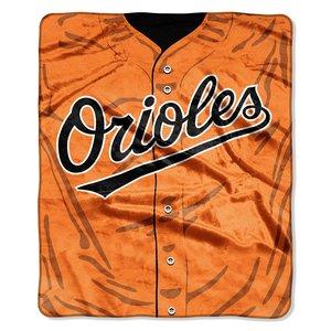 - MLB Baltimore Orioles Jersey Plush Raschel Throw, 50