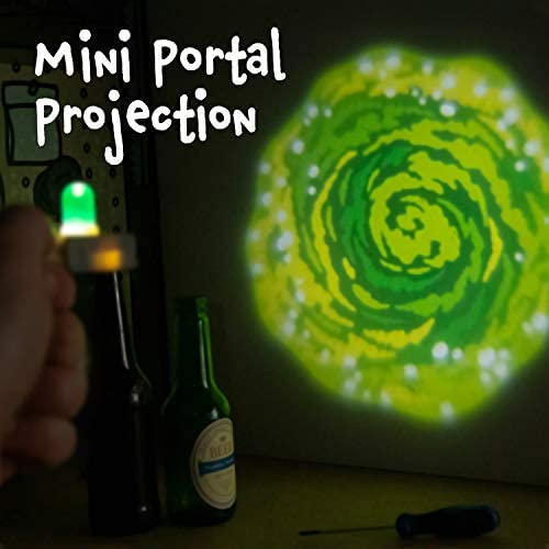 Paladone Rick And Morty Gun Ring Beleuchteter Schlüsselanhänger Grünes Interdimensionales Portal Beleuchtung