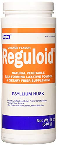 Reguloid Natural Vegetable Bulk-Forming Laxative, Orange Flavor Powder- 19 Oz by RUGBY - Natural Reguloid