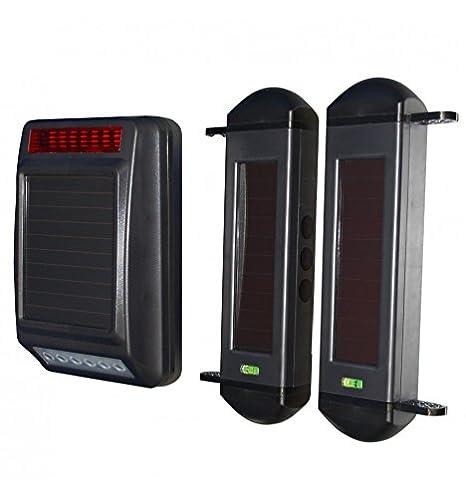 Sirena y vigas (totalmente Solar Powered) inalámbrico sistema de alarma perimetral.: Amazon.es: Bricolaje y herramientas