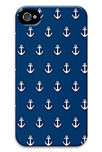 Simply Case Designs Blue Little Anchor Design PC Material Hard Case For iphone 5C