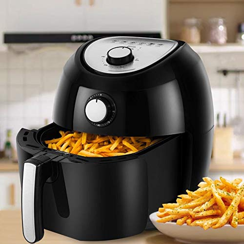Air Fryer, 5.8 Quarts Air Fryers w/Accessories Cookbook, Grill Rack and Tongs Black by Fereol (Image #5)