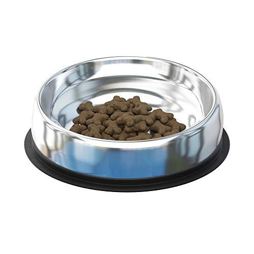 French Bulldog Dog Bowl - Enhanced Pet Bowl - Stainless Steel - Medium