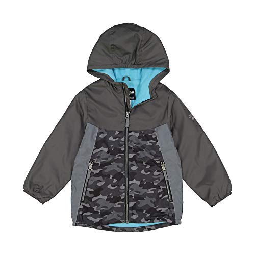 - Osh Kosh Boys' Toddler Easy Lightweight Jacket, Camo with Aqua, 4T