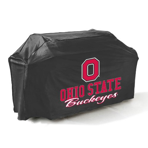 State Buckeyes Grill Cover Ohio - Mr. Bar-B-Q, Inc. 07741OHSTGD Ohio State Grill Cover, Black