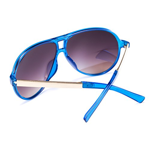 Smileyes Lunettes de soleil Mixsex polarisées moderne fashion style du sport protection UV 400 TSGL082 Bleu
