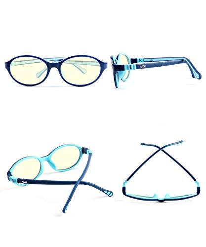 AA99 Computer Glasses for Kids Blue Light Blocking Game Glasses for Boys Girls Amber Tint Anti Digital Eyestrain Glare UV