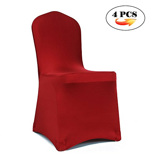 Meijuner 4PCS Universal Shiny Lycra Stretch Chair Cover