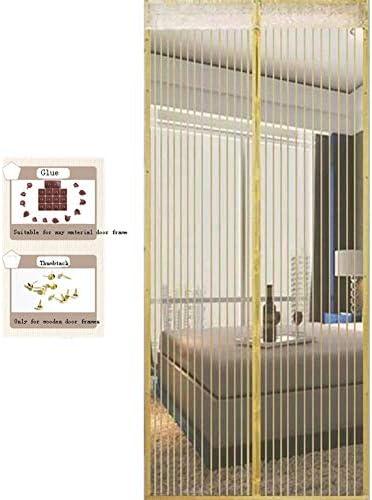 Mosquitera Puerta Con Iman, Cortina Mosquitera Que se Cierra como Magia Sin Huecos Instalación fácil Protección Contra Insectos para Puertas Correderas/Balcones/Terraza,Beige,85x210cm(33x83in): Amazon.es: Hogar