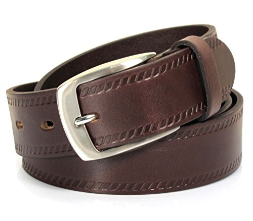 (CU4-120) Mens Belt 100% Real Leather Black, Brown, White Size 28~42