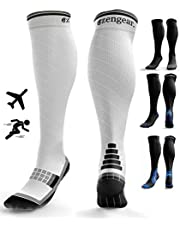 Compression Socks for Men & Women (20-30 mmHg) - Anti DVT Stockings - Swollen Legs - Varicose Veins - Edema - Running - Sports - Nurses - Shin Splints Calf Pressure Support - Pregnancy - Blood Circulation - Flight Travel