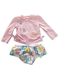 Infant Baby Girls Rash Guard Set Starfish Long Sleeve Swim Set