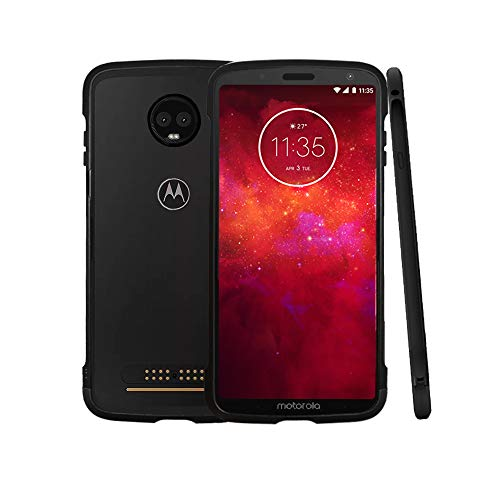 (Moto Z3 Play Case, Lenovo Original Aluminum Metal Bumper Anti-Scratch Shockproof Compatible with Moto Mods Protective Case for Motorola Moto Z3 / Moto Z3 Play)