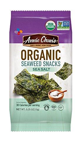 Annie Chuns Organic Seaweed Snacks, Sea Salt, 0.35-ounce (Pack of 12), Americas #1 Selling Seaweed Snacks