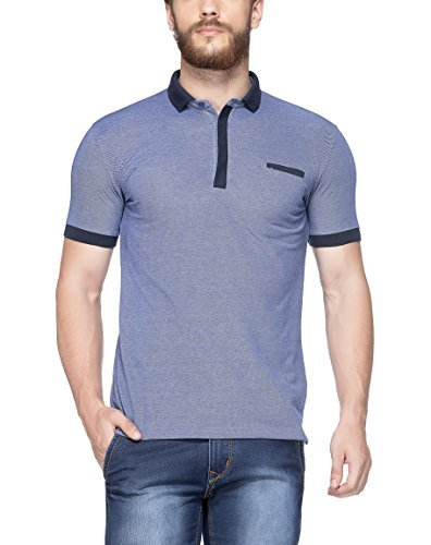 (Tinted Men's Matty Polo T-Shirt (Large, RoyalBlue)