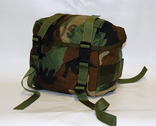 (US Military Buttpack Butt Pack Woodland ALICE MOLLE- Real US Military Made in USA NSN: 8465-00-935-6825)