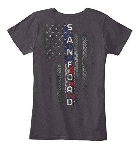 Charcoal Sanford (Sanford. XS - Heathered Charcoal Women's Premium Tee - Women's Premium Tee)