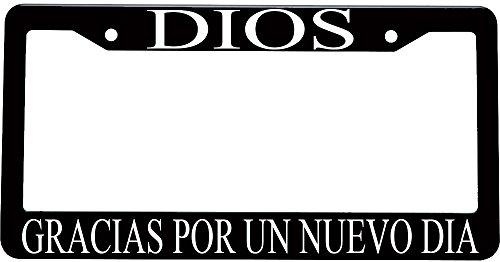 Dios gracias por un nuevo dia spanish christian plastic license plate frame (Decoracion Para Autos compare prices)