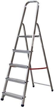 NAWA Escalera Tijera Plegable 5 Peldaños de Aluminio. Escadote 5 degraus EN 131 Capacidad Máx. 150 kg. Hecho en Europa. BTF-TJL105: Amazon.es: Bricolaje y herramientas