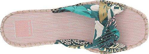 Dolce Vita Kvinnor Benicia Slide Sandal Green Palm Print