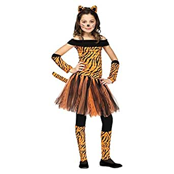 Girls Halloween Costume Tigress Tiger Costume (4-6 years)