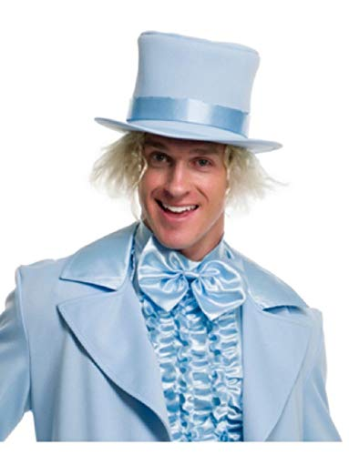 Deluxe Blue Dumb and Dumber Mad Hatter Gentlemens Top Hat Costume -