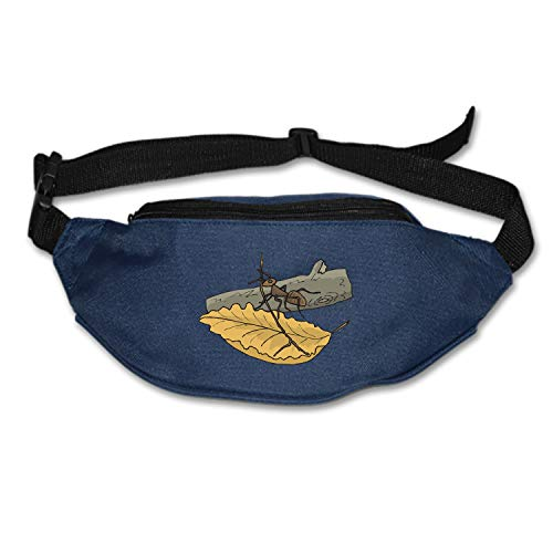 Elvira Jasper Leaf Branch Ant Log Twig Waist Pack Portable Fanny Pack Outdoor Hiking Travel Waist Bag for Daily Life Cycling Camping Hiking Hunting Fishing Shopping