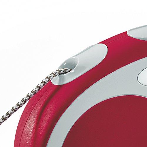 Flexi Vario  Retractable Dog Leash (Cord), 26 ft, Medium, Red