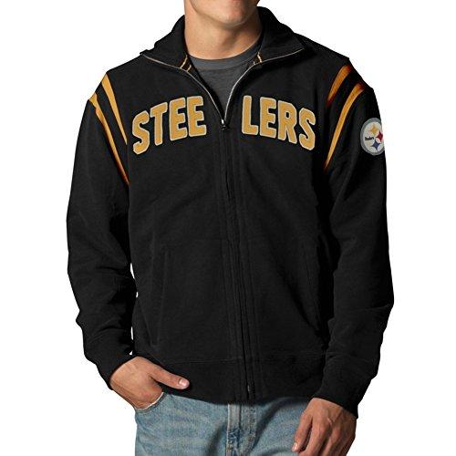 Helmet Steelers Pittsburgh Throwback (NFL Pittsburgh Steelers Men's Heisman Track Jacket, Medium, Jet Black)