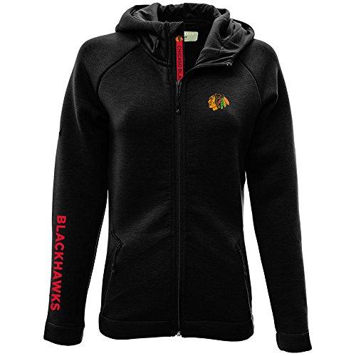NHL Chicago Blackhawks Adult Women Motion Insignia Bold Full Zip Hooded Jacket, Small, ()