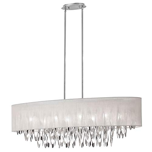 (Dainolite Lighting ALL-448C-PC-CRM  8-Light Oval Chandelier)