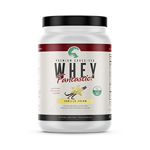 Grass Fed Vanilla Whey Fantastic   All Natural Whey Protein Blend from Isolate & Concentrate Perfect for Building Lean Muscle   Paleo Friendly, Non-GMO, Gluten Free   1.6lb – 20 Servings