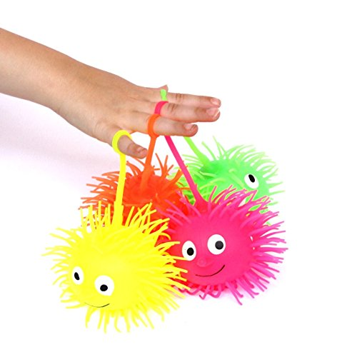 Dazzling Toys Light up Puffer Balls. Pack of 6 Party Favor Gooey Puffer (Puffer Balls)