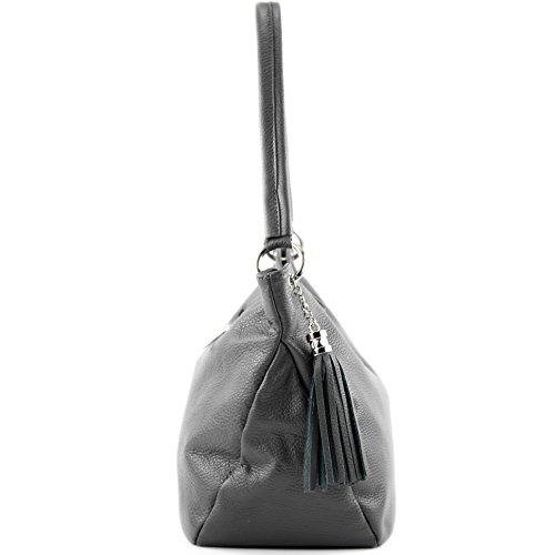 Bolsa T154 Bolsa Funda genuino piel modamoda de de cuero hombro de cuero de Dunkelgrau 8Xw67xBq
