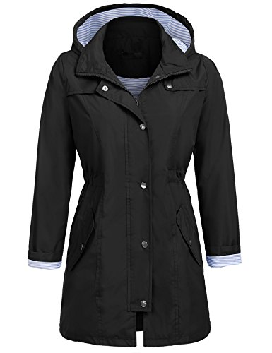 Coofandy Coofandy Nero Giacca Parka Parka Giacca Donna Donna nx85pzw