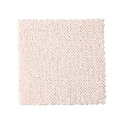 ❤ Lemoning ❤ Nonstick Oil Coral Velvet Hanging Hand Towels Kitchen Dishclout (Beige)]()