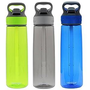 Contigo Autospout Addison Water Bottle, 24oz - Citron, Smoke & Monaco (3 Pack)