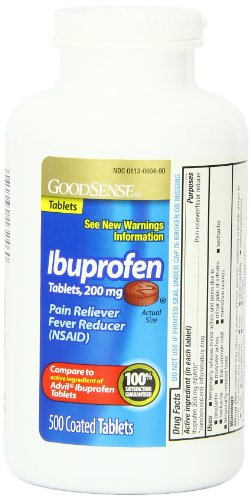 GoodSense Ibuprofen Pain Reliever/Fever Reducer Tablets, 200 mg, 500 Count