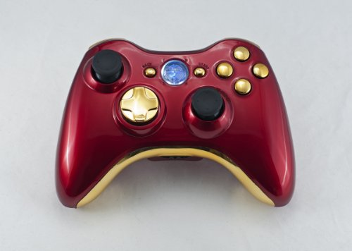 iron man chrome red gold xbox 360 modded controller rapid fire cod black ops mw2 mw3 mod. Black Bedroom Furniture Sets. Home Design Ideas