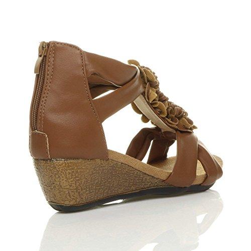 Heel Bar Sandals Ajvani Mid Matte Tan Women Size T q1xCFw7A