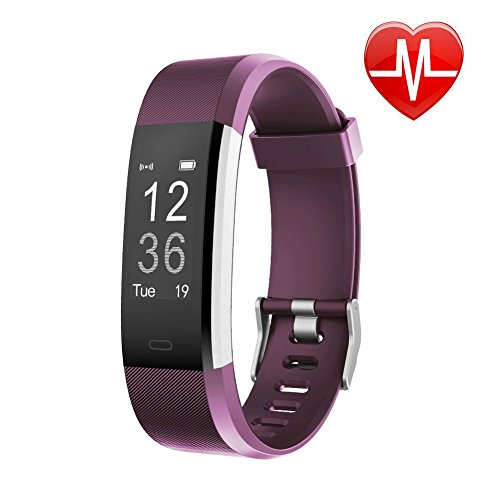 Fitness Tracker HR, Letsfit Activity Tracker Watch with Heart Rate Monitor, IP67 Waterproof Smart Bracelet with Calorie Counter Pedometer Watch for Android and iOS