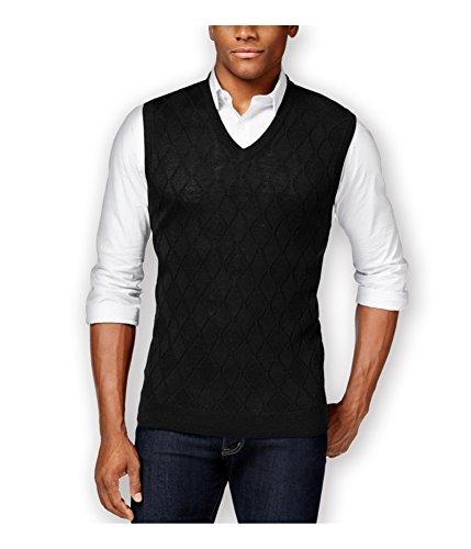 Club Room Mens Merino Wool Argyle Sweater Vest deepblack - Argyle Merino Sweater Wool
