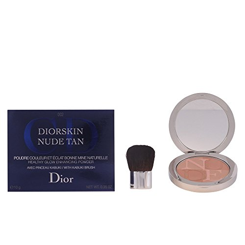 Christian Dior Skin Nude Tan Glow Enhancing Powder with Kabuki Brush, No. 002 Sunlight, 0.35 Ounce by Dior
